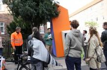 Nikolai Linares Fernisering og artist talk ved Sydhavns Anker d.7/9-12 (fotograf Linda Bjørnskov)