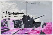 'Palle ikke alene', 2009, 25,5 x 19, 5 cm, bog i masonit, akryl på masonit, læderbånd