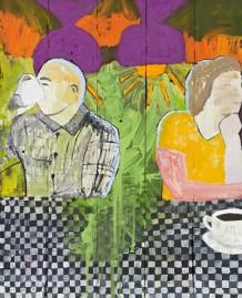"""""""Broken like you Hannah H. III"""", 2013, 60 x 48 cm, olie på træbrædder"""