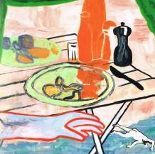 'Sommer', 2014, 120 x 120 cm, olie på lærred